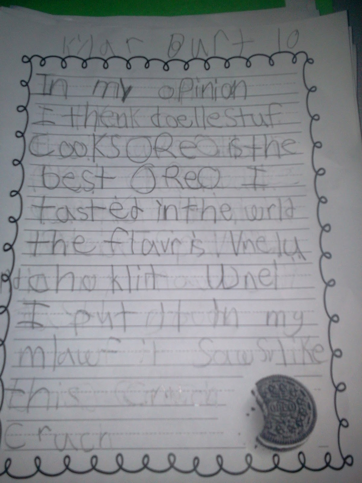 mrs nelson 39 s first grade class oreo opinion writing part 2. Black Bedroom Furniture Sets. Home Design Ideas