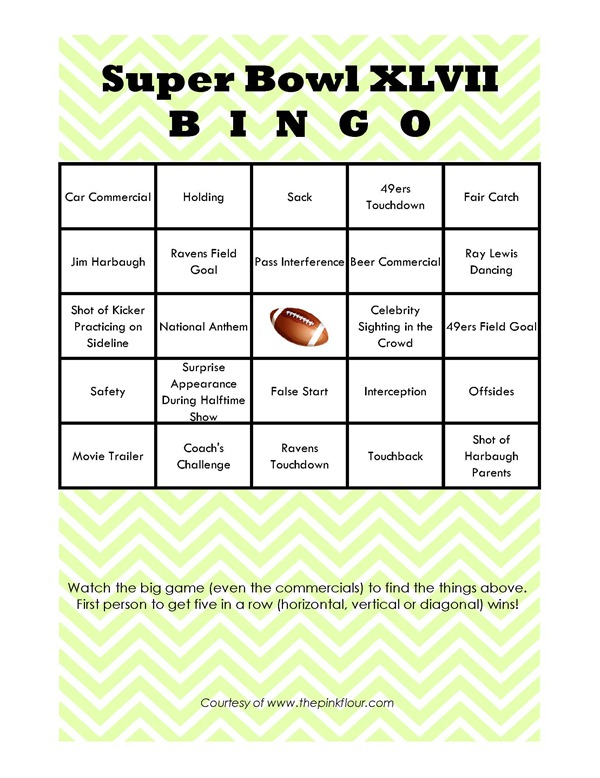 Super Bowl Bingo 2013 - fun way to watch the game!_Page_01