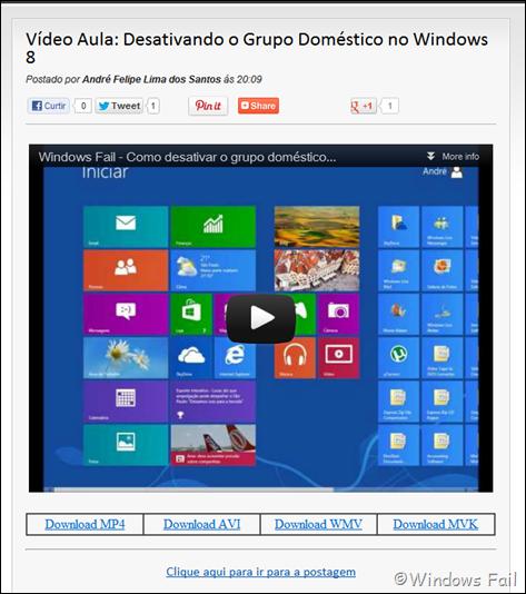 Faça o download das vídeo aulas nos artigos que contém somente vídeo aulas
