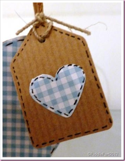 small gingham heart tag