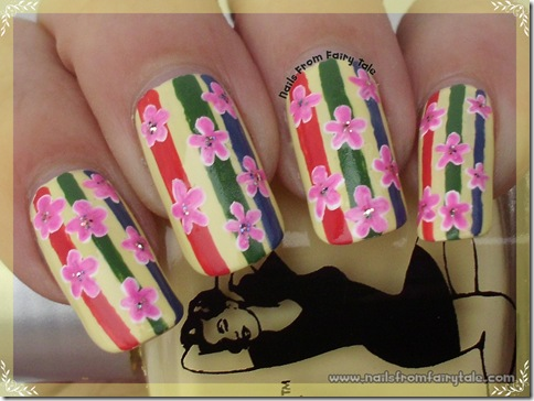 flowers on stripes 4