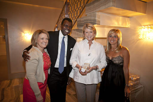 Amy Wilkins, Mark, Martha, and Lisa Gersh, president and COO of Martha Stewart Living Ominimedia