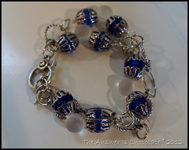 TAIC Metal Blue Bracelet