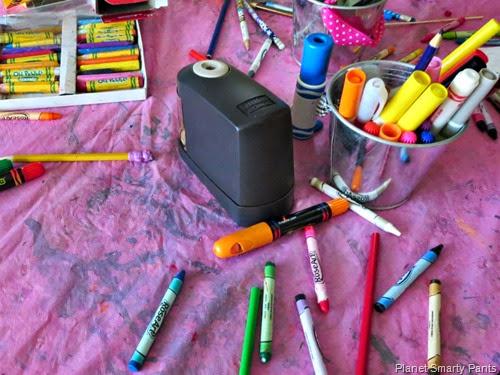 Art Supplies for Summer Banner Project
