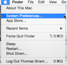 OS X Yosemite Apple Menu and System Preferences