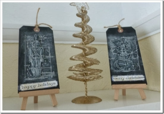 Festive shelves Tim Holtz