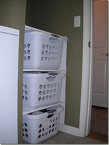 Laundry Basket Shelves