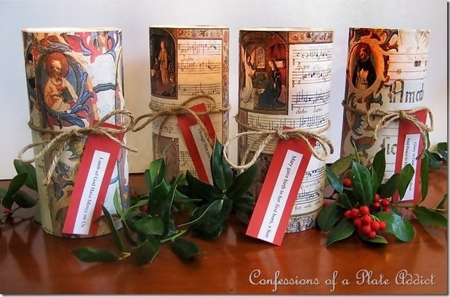 CONFESSIONS OF A PLATE ADDICT Wiateria Inspired Christmas Candles