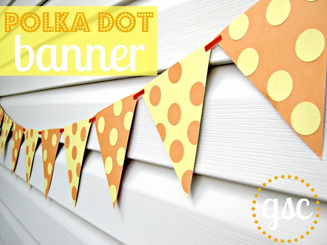 polka dot banner