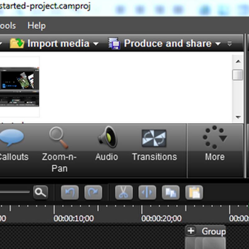 จับภาพหน้าจอ Desktop เป็นวีดีโอด้วย Camtasia studio 8
