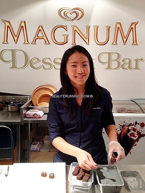 Chef Janice Wong 2am dessertbar Magnum Temptation Dessert Menu Hazelnut Bons Bons Fruit CARAMEL OVERLOAD GINGER FLOWER VERBENA EXPLOSION SHADES OF PURPLE PINK