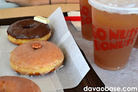 Donuts and iced tea at Go Nuts Donuts Abreeza