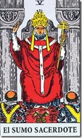 EL sumo sacerdote carta del tarot