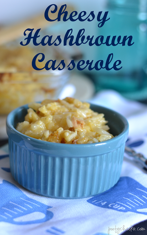 Cheesy Hashbrown Casserole Recipe - the ultimate comfort food! #recipe
