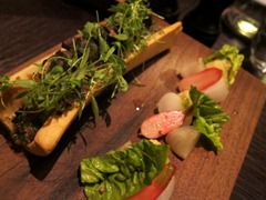 Roast Marrowbone (c.1720): Snails, parsley, anchovy &amp; mace, pickled vegetables