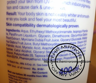 Nivea Whitening Body Lotion