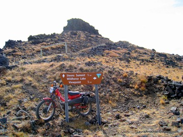 Steens Summit Sign