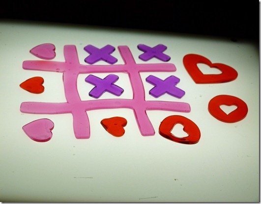 Lightbox with Valentines Gels