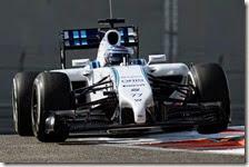 Bottas nei test di Abu Dhabi 2014