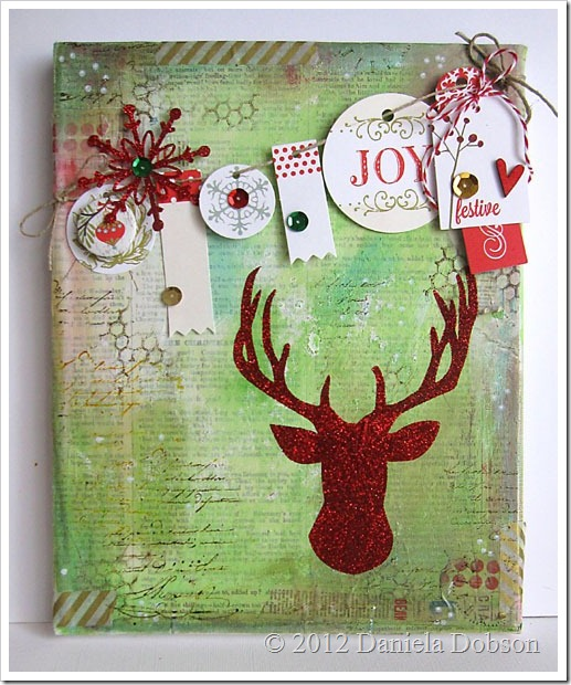 Joy mixed media canvas by Daniela Dobson