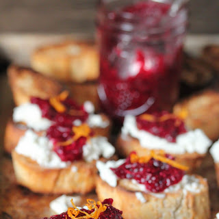 Goat Cheese And Chia Cranberry Crostini