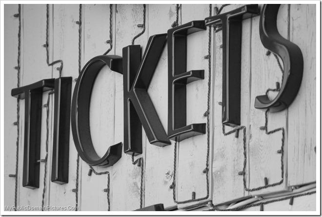 tickets free photo