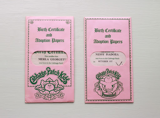Birth certificates from my Cabbage Patch Kids