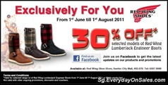 redwing-promotion-Singapore-Warehouse-Promotion-Sales