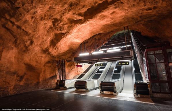 Estocolmo metrô.