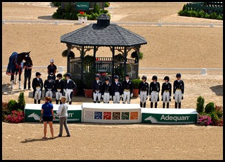 10a - Team Dressage Awards Ceremony
