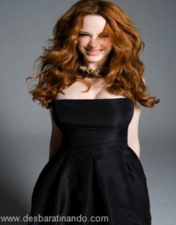 Christina Hendricks linda sensual sexy sedutora decote peito desbaratinando (2)