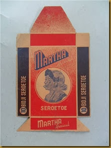 old cigarette label martha seroetoe