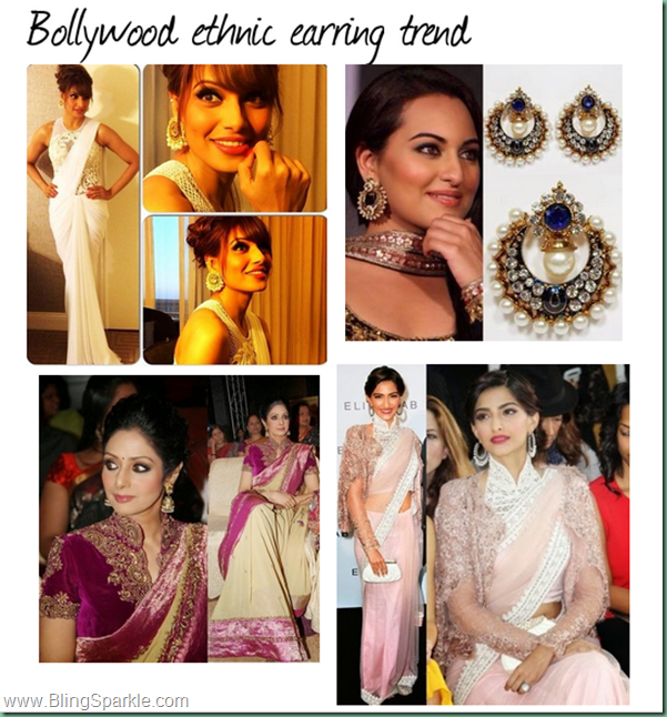 Bollywood earring style