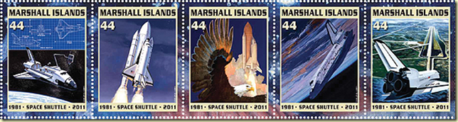 the first space shuttle on moon stamp - photo #4