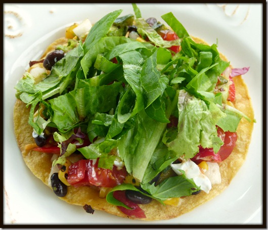 loaded corn tortilla