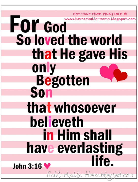 Scripture Valentine FREE PRINTABLE from ReMarkable Home