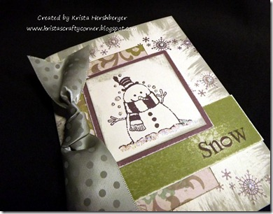 Kristas snowman card