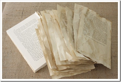 coffee stained book pages