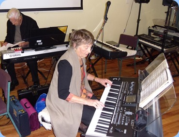 Norman and Deirdre Freeman. Deirdre was trying out the Korg Pa3X.