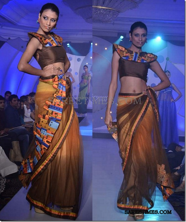 model_sndt_brown_saree