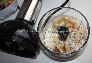 Banana Oatmeal Flax Breakfast Skillet Cake - ingredients II