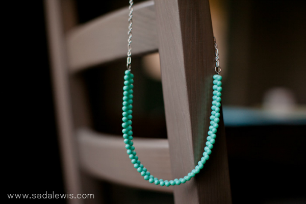 turquoise necklace tutorial