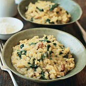 Spinach and Porcini Risotto