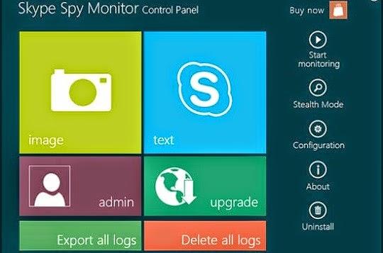 برنامج تسجيل مكالمات السكايبى Skype Spy Monitor 2014