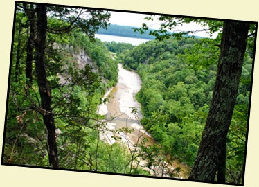 03e - North Rim Trail - View of Gorge which runs to Cayuga Lake