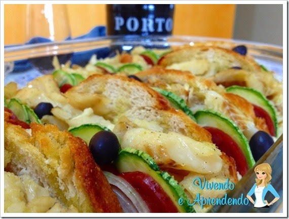 Bacalhau com pão italiano e linguiça portuguesa1