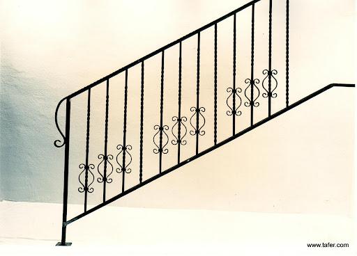 Baranda para escalera con referencia FORJA TAFER: www.tafer.com