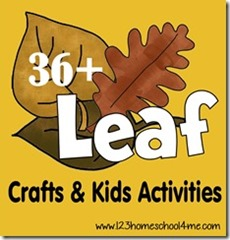 36 Leaf Crafts & Kids Activities for Fall
