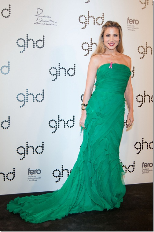 GHD realiza una cena de gala en el Casino de Madid, a beneficio de la fundacion Sandra Ibarra y la Fundacion Fero con la actriz Elsa Pataky como anfitriona