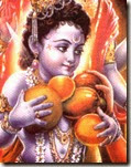 [Krishna with fruit]
